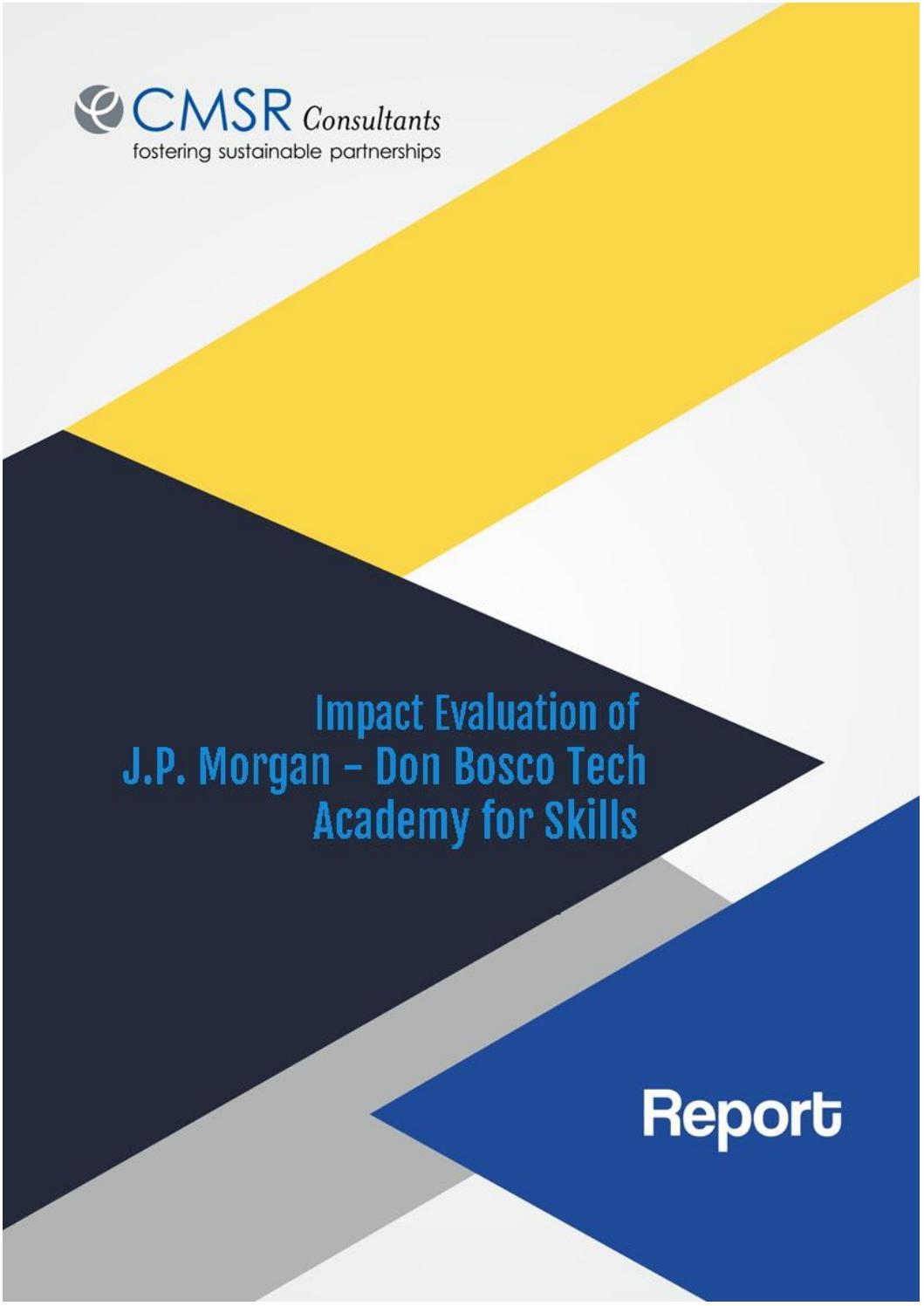 Impact Evaluation of JP Morgan - Don Bosco Tech Academy of