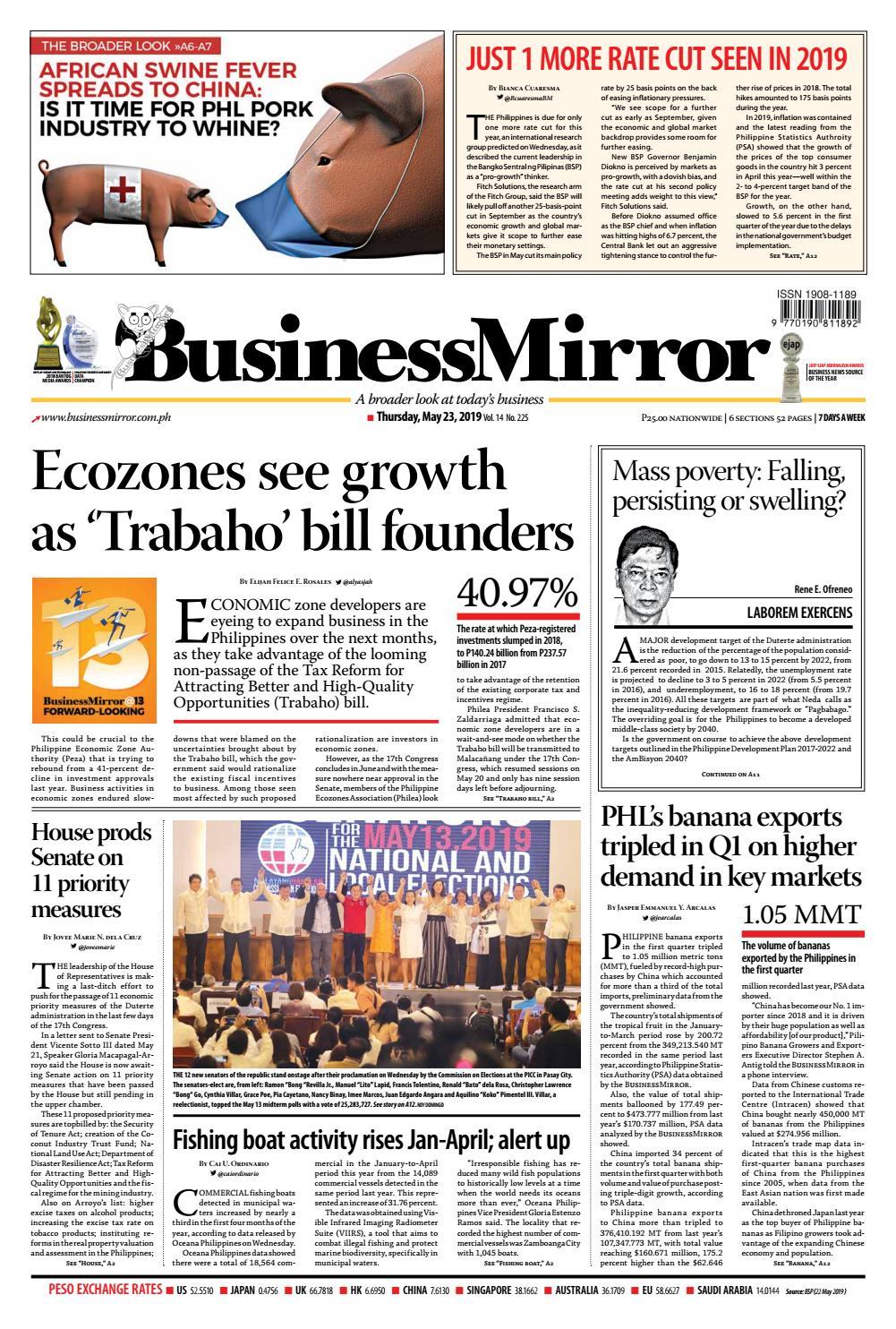 BusinessMirror May 23, 2019 by BusinessMirror - issuu