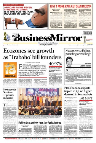 BusinessMirror May 23, 2019 by BusinessMirror - issuu