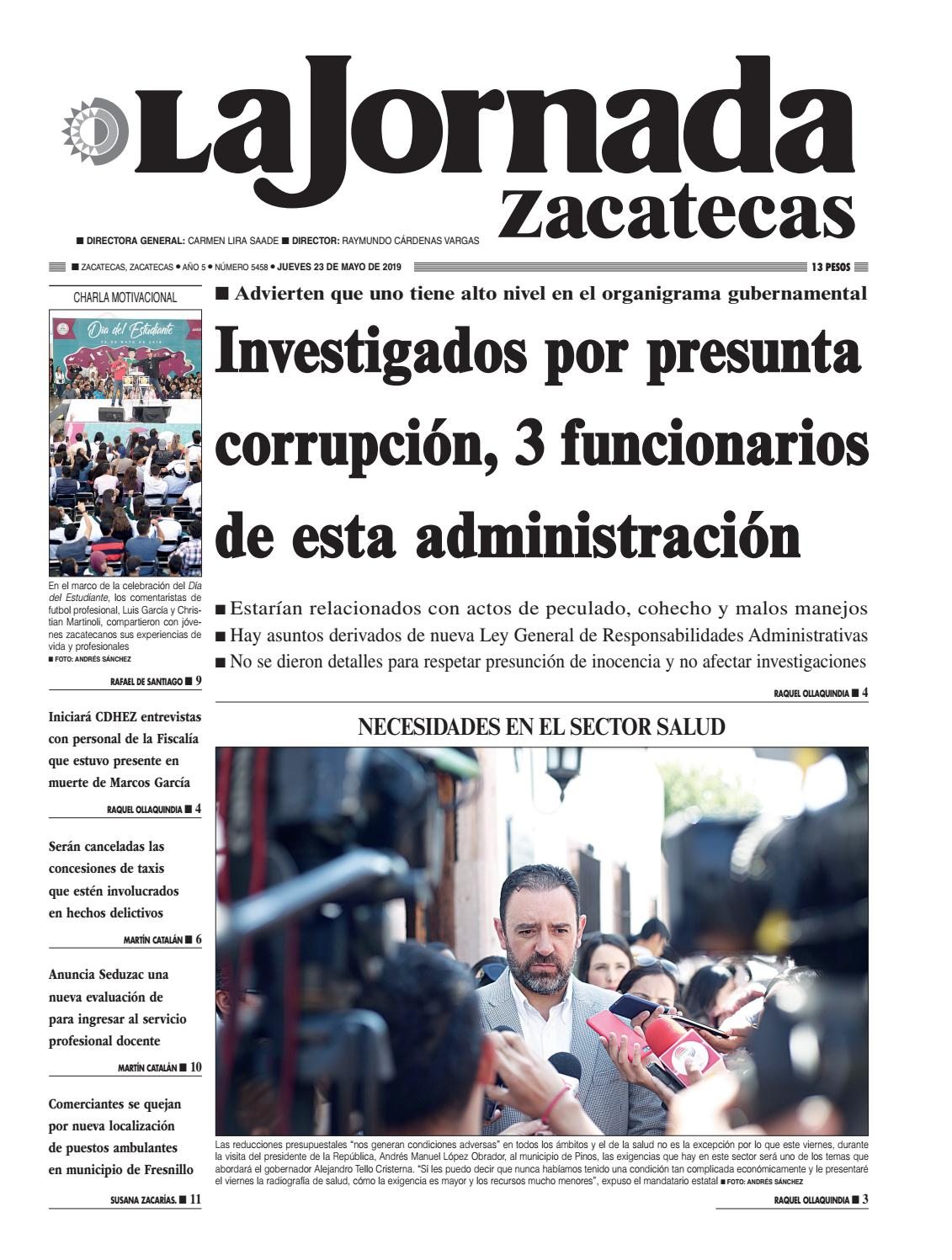 La Jornada Zacatecas Jueves 23 De Mayo De 2019 By La Jornada