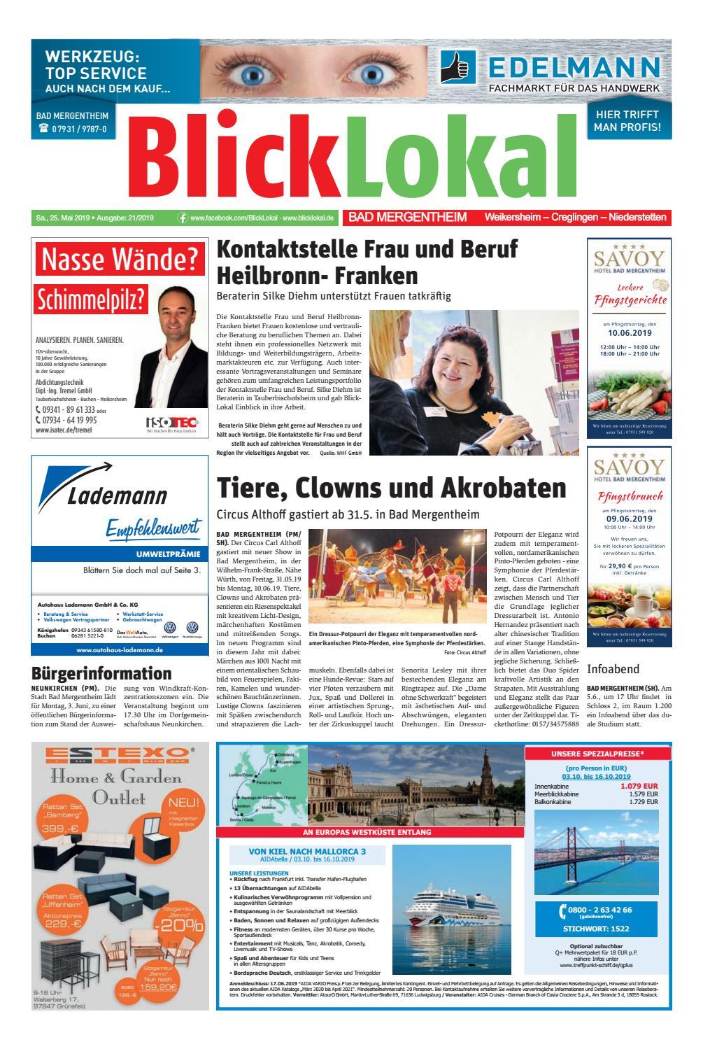 BlickLokal Bad Mergentheim KW 21 2019 by BlickLokal