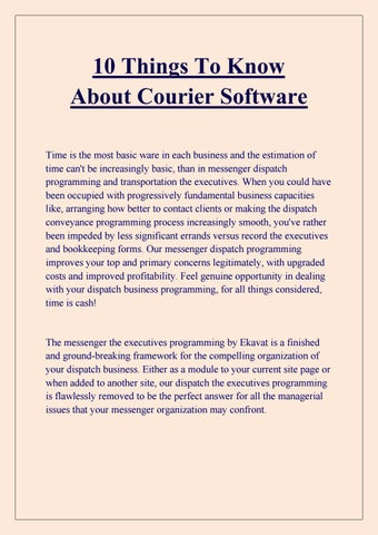 courier software | courier dispatch software | courier billing