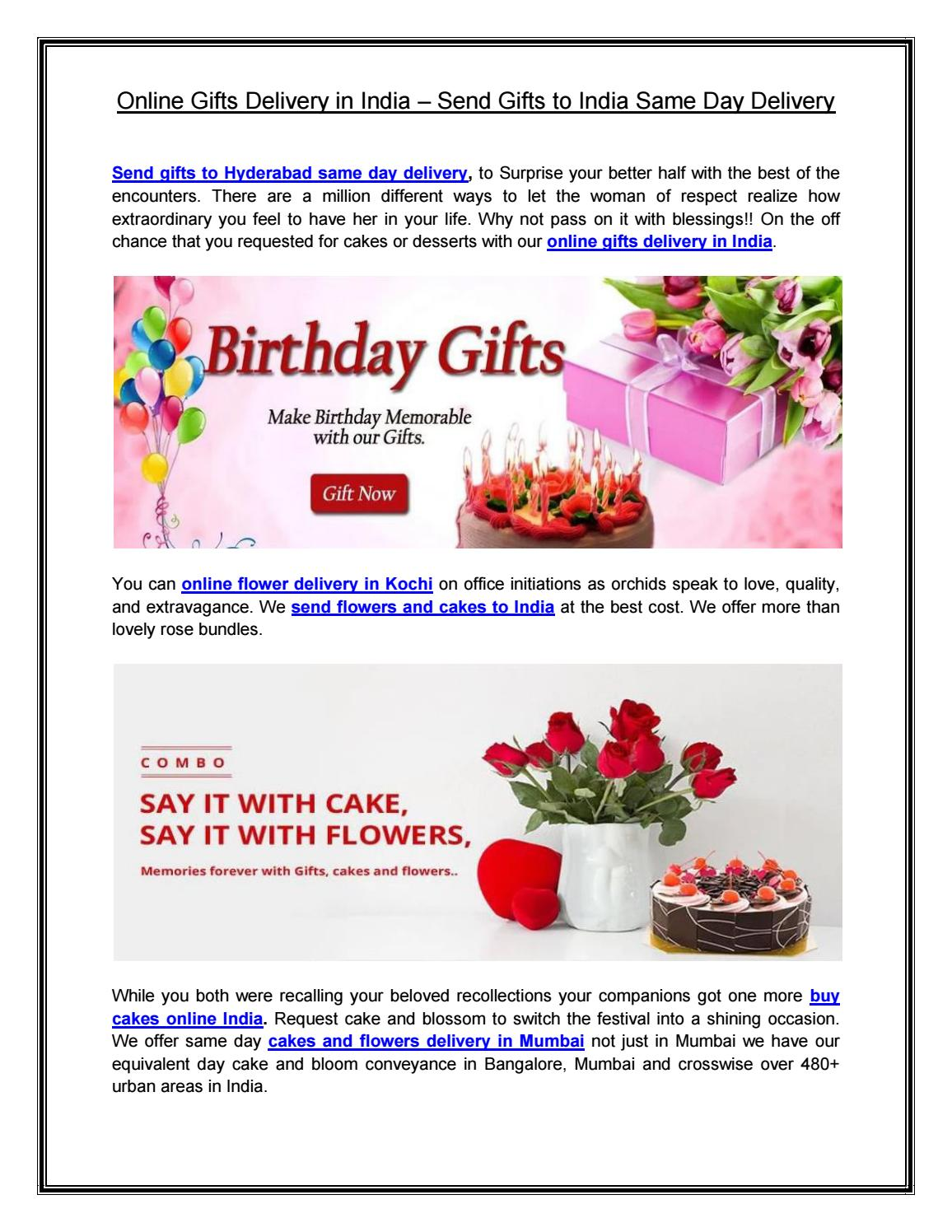 Online Gifts Delivery In India Send Gifts To India Same