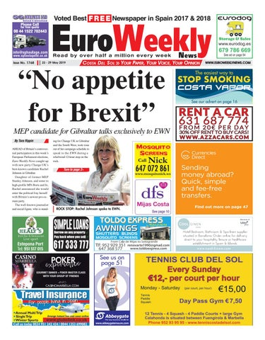 de0fe8412d425c Euro Weekly News - Costa del Sol 23 - 29 May 2019 Issue 1768 by Euro ...