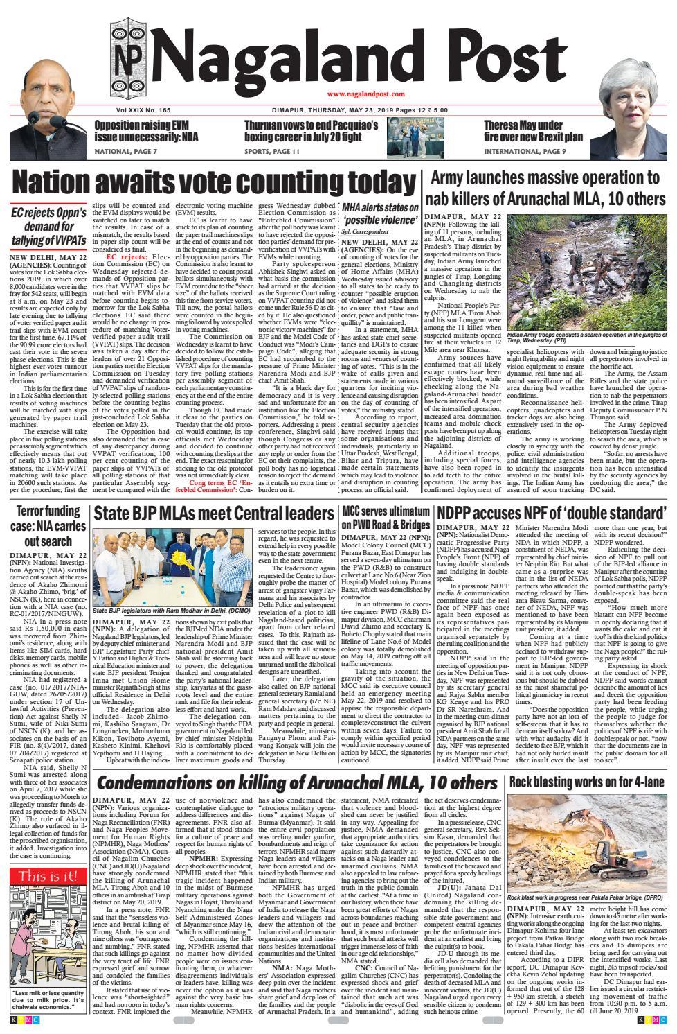 May 23, 2019 by Nagaland Post - issuu