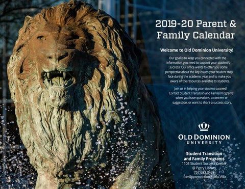 Odu Calendar 2020 2019 2020 Family Calendar by Old Dominion University   issuu
