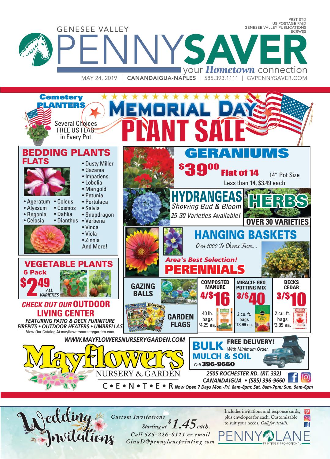 258825abd Canandaigua-Naples Edition - Genesee Valley Penny Saver 5-24-2019 by  Genesee Valley Publications - issuu