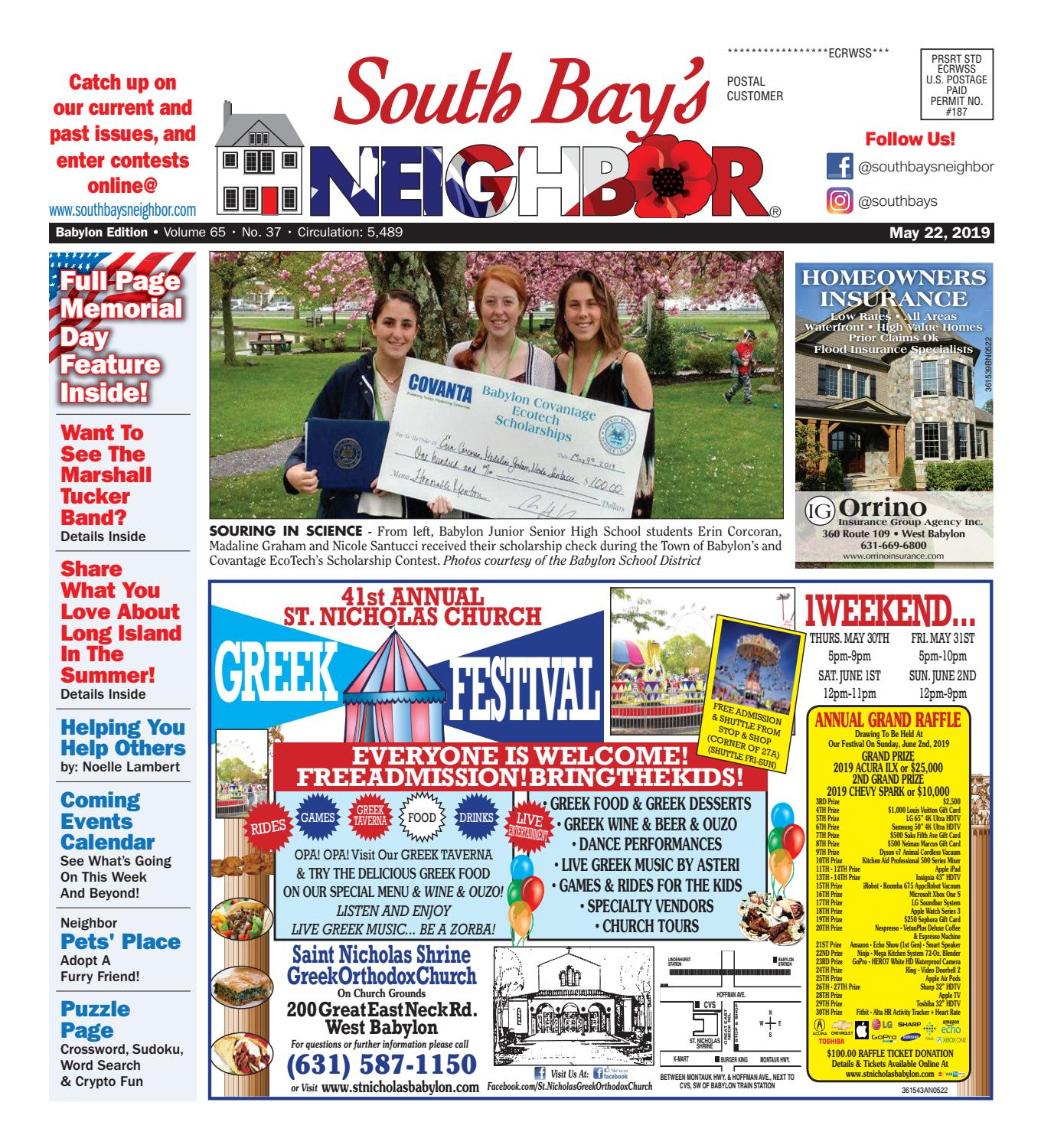 May 22, 2019 Babylon by South Bay's Neighbor Newspapers - issuu