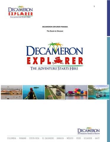 dd8c445012cd0 EN - Decameron Explorer Panamá by Hoteles Decameron - issuu