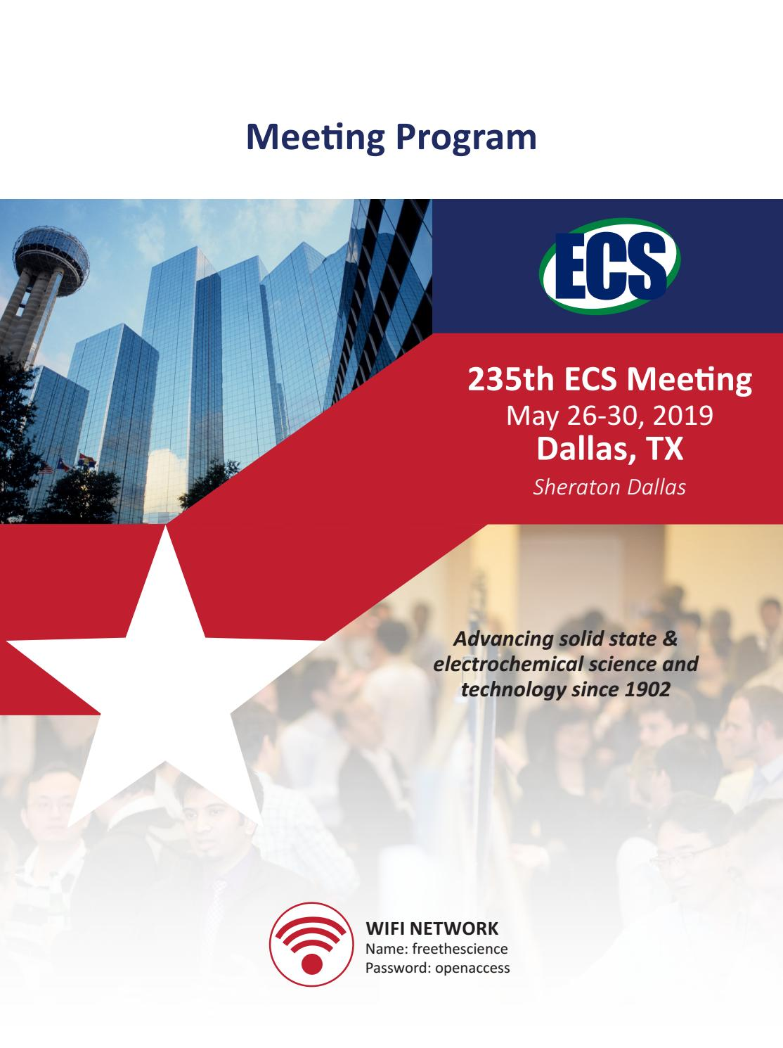 235th ECS Meeting, Dallas, TX by The Electrochemical Society