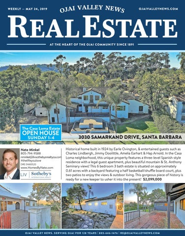 Ojai Valley News Real Estate Weekly May 24, 2019 by Ojai
