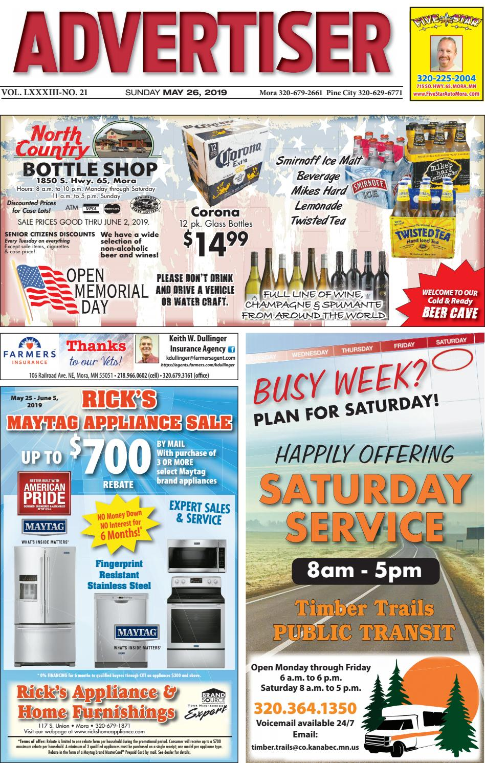 Mora Advertiser by Kanabec County Times Pine City Pioneer issuu
