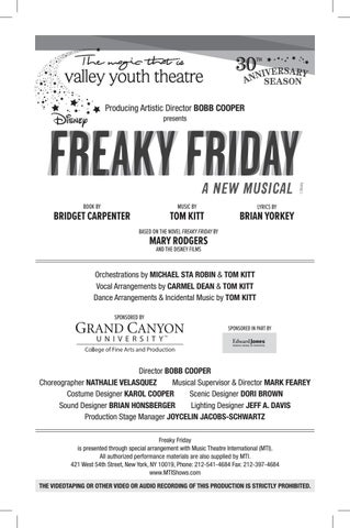 Valley Youth Theatre Presents Disney's Freaky Friday - June
