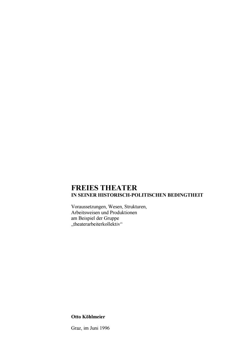 Freies Theater By Kunstmuehle Issuu