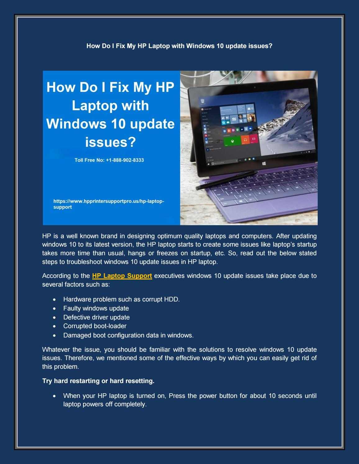 How Do I Fix My Hp Laptop With Windows 10 Update Issues By Marry Taylor Issuu