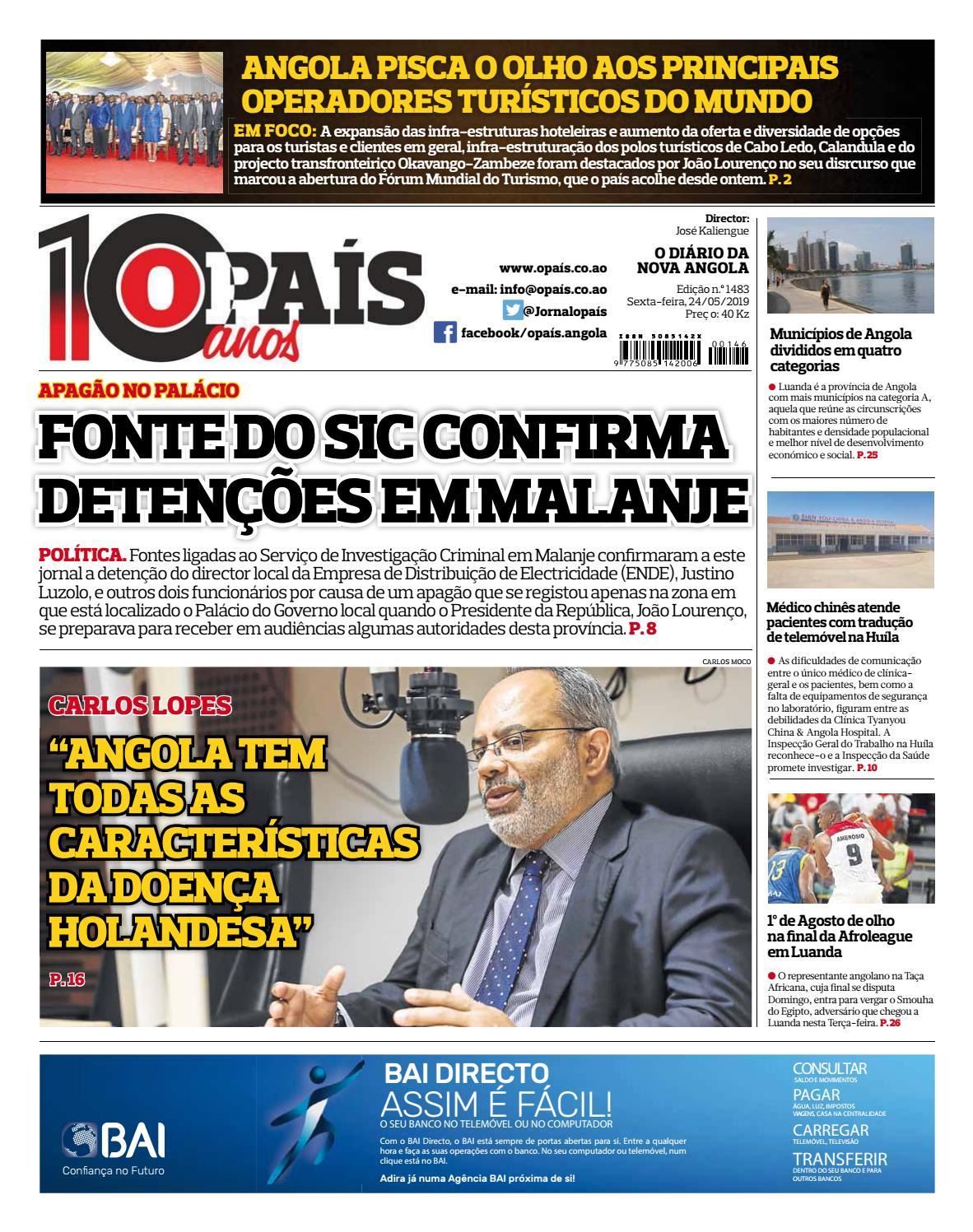 416051920 Jornal OPaís edição nº1483 de 24/05/2019 by OPAÍS - issuu