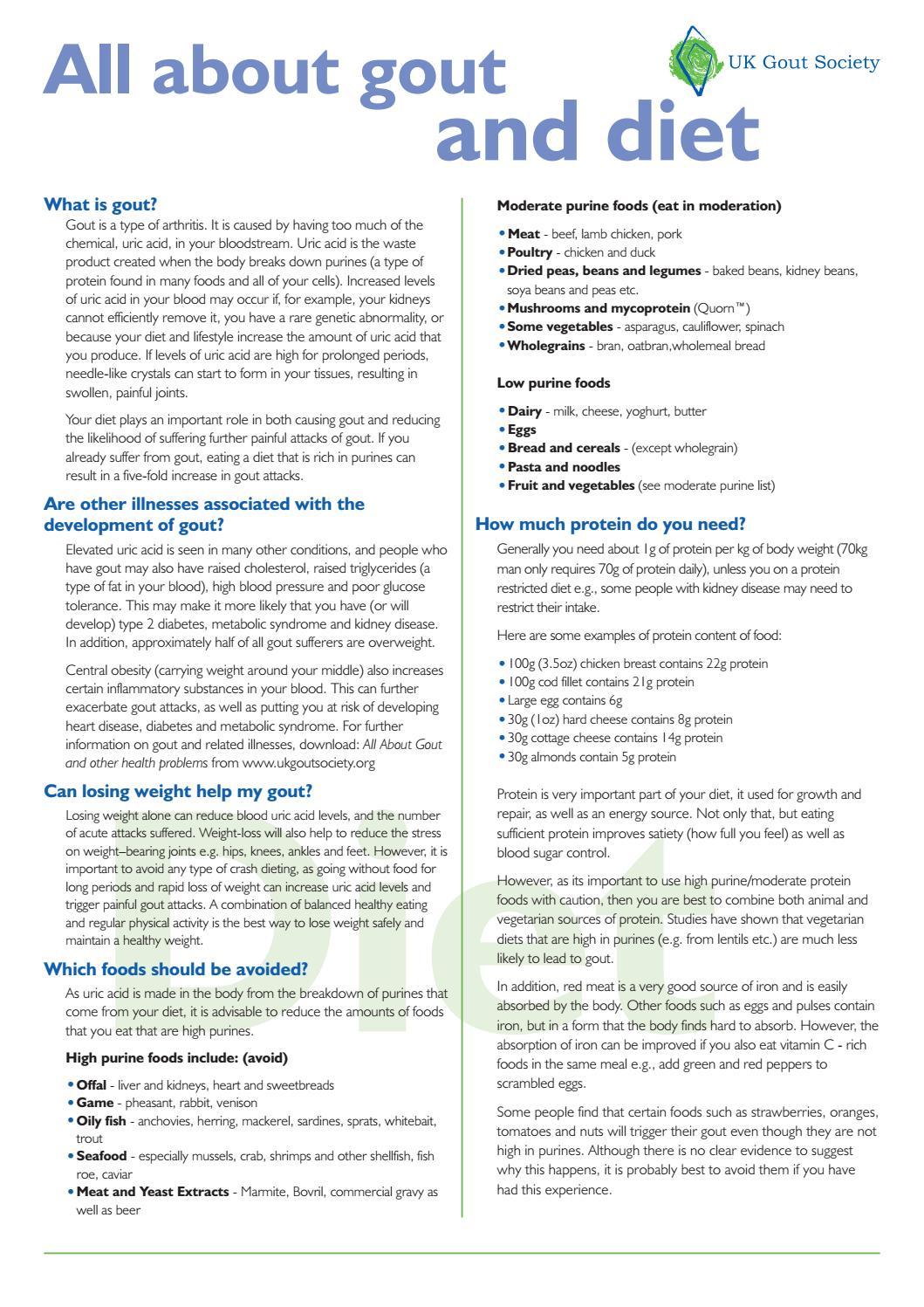 gout diet avoid protein