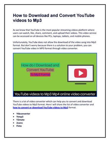 convertir lista de videos de youtube a mp3