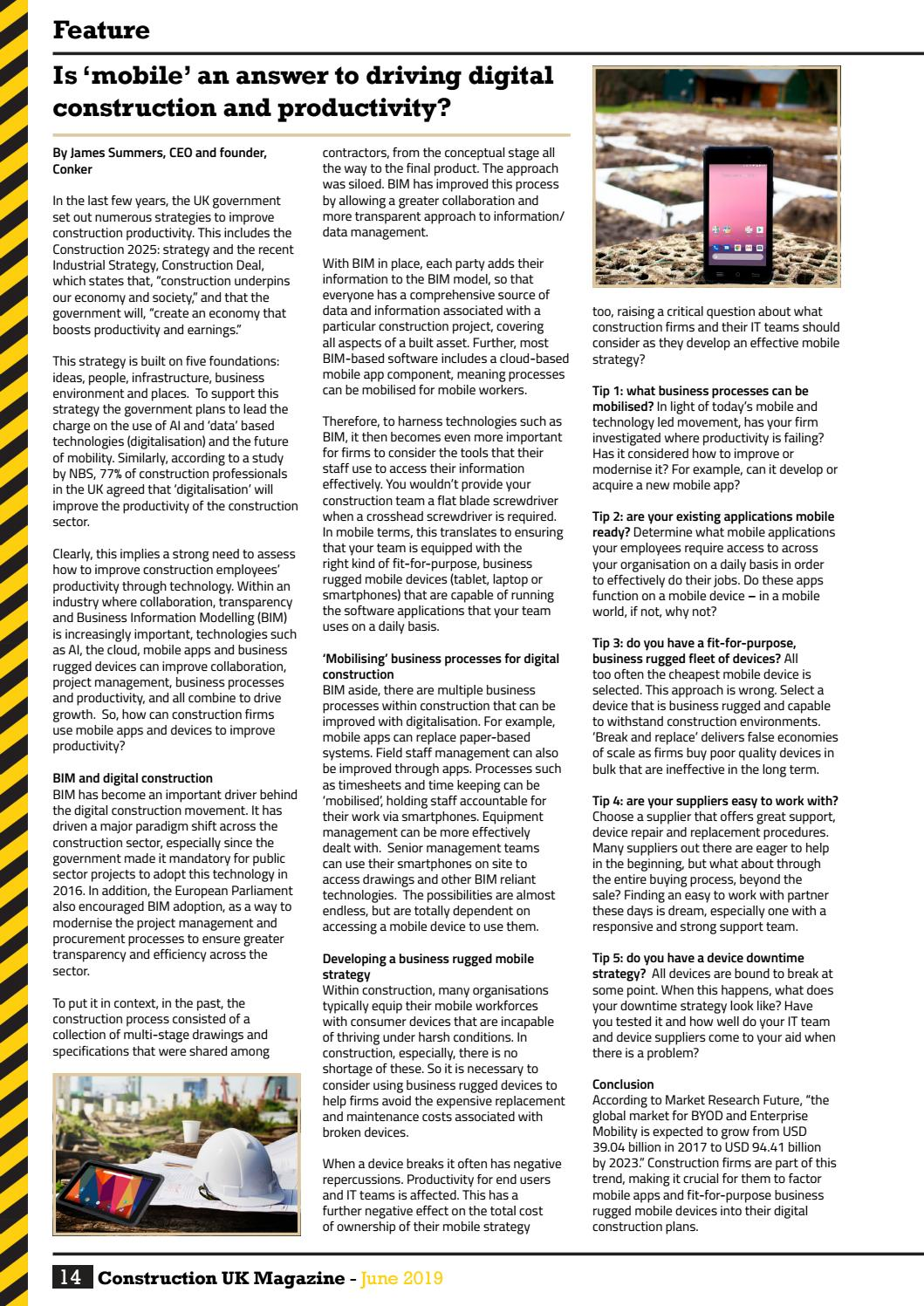 Construction UK Magazine - June 2019 by Lapthorn Media - issuu