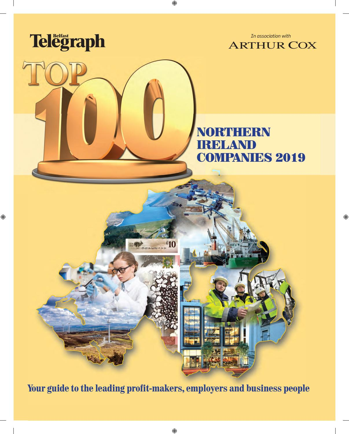 Northern Ireland's Top 100 Companies 2019 by Belfast Telegraph - issuu