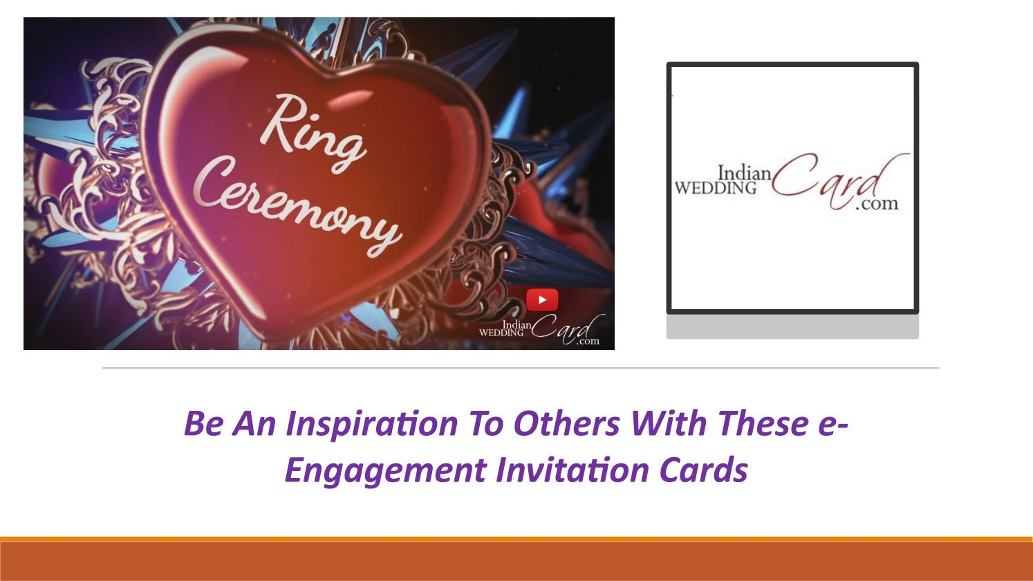 E Engagement Invitations Cards Online By Indian Wedding Card