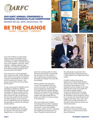 Page 10 of IARFC Annual Conference Recap