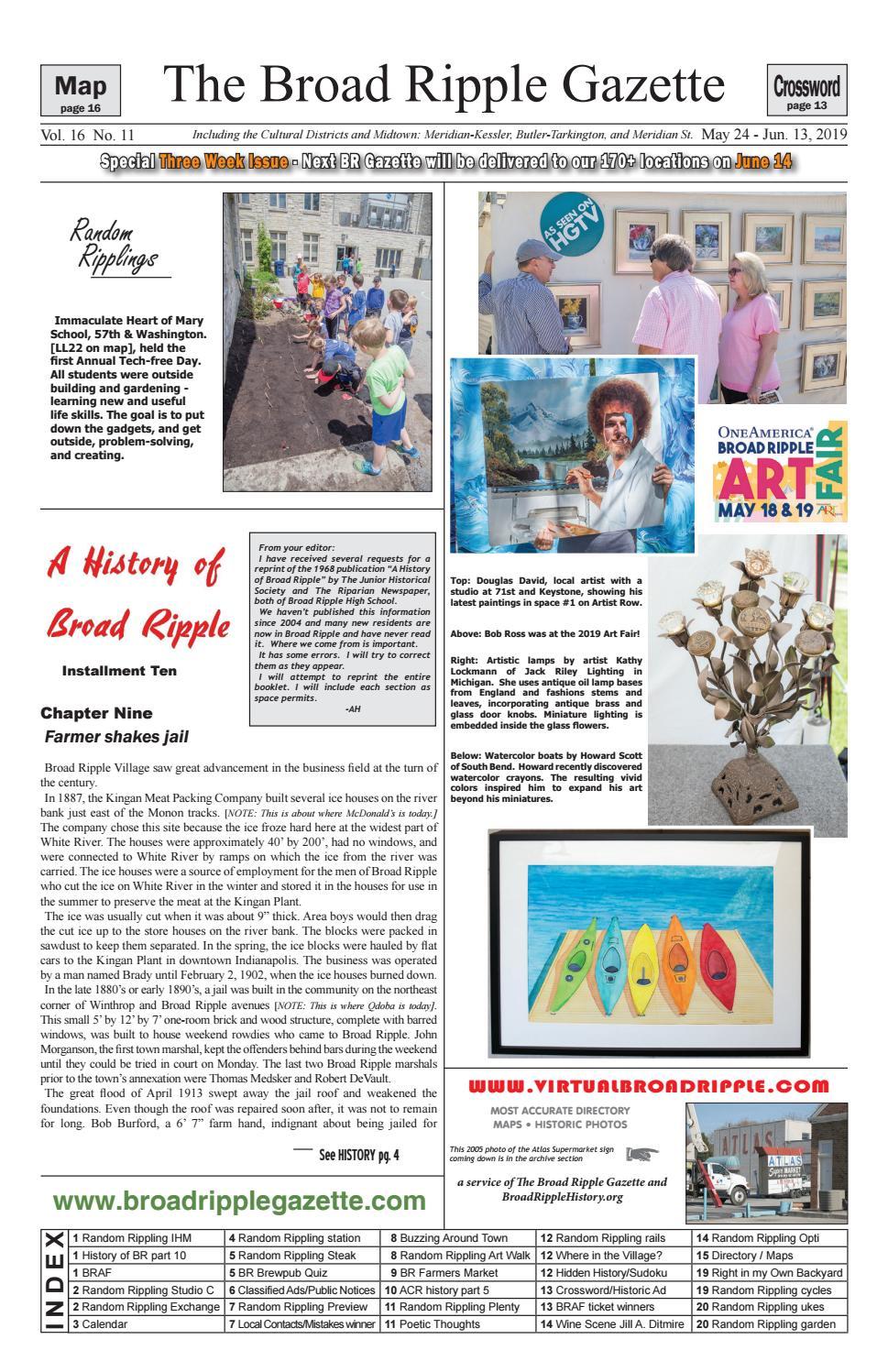 2a8ea6d29dd Broad Ripple Gazette Volume 16 Number 11 (May 24 - June 13, 2019) by Broad  Ripple Gazette - issuu