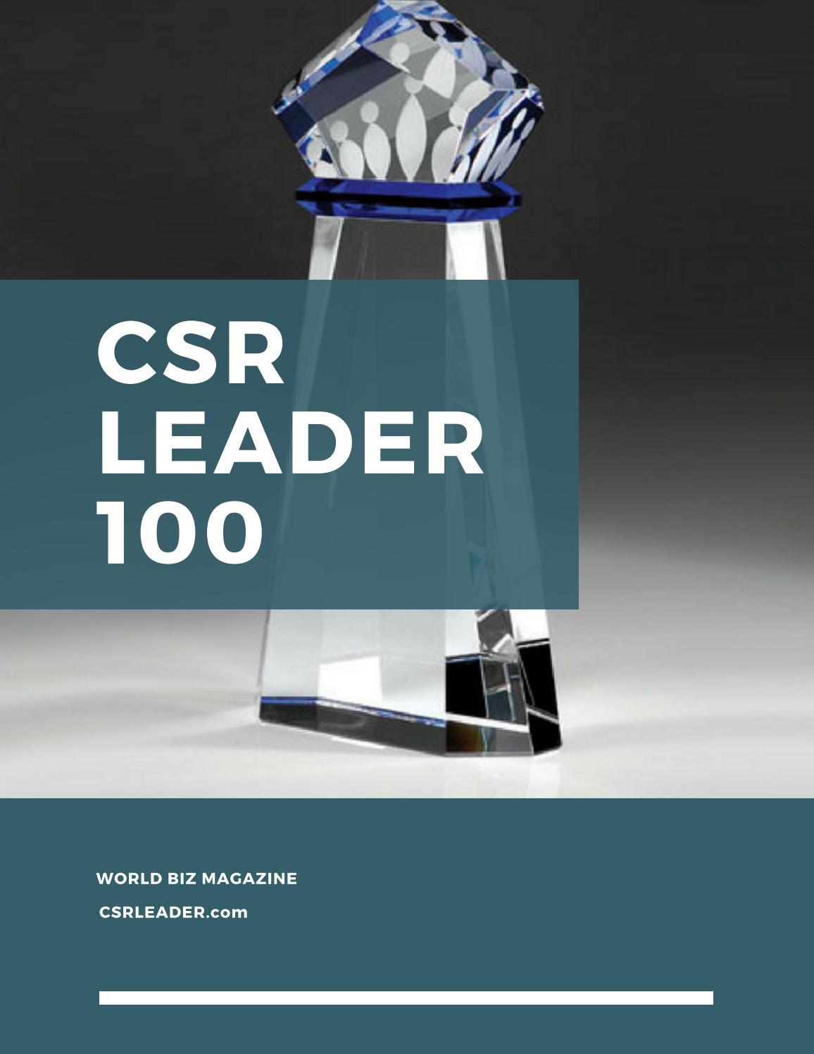 CSR Leader 100 by PRBD Global - issuu