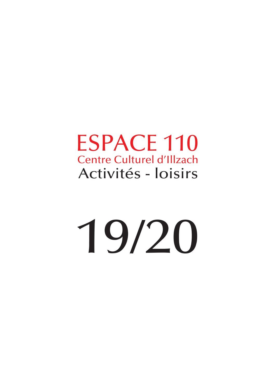 Activités Loisirs 2019 2020 De Lespace 110 Centre