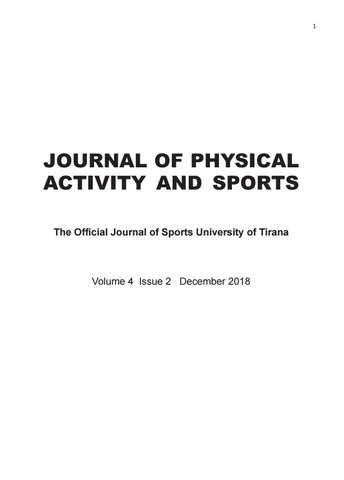 Journal of Physical Activity & Sports Volume 4 Issue 2
