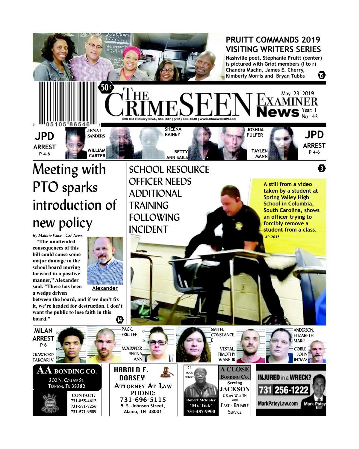 The CrimeSEEN Examiner News May 23, 2019 by CrimeSEEN