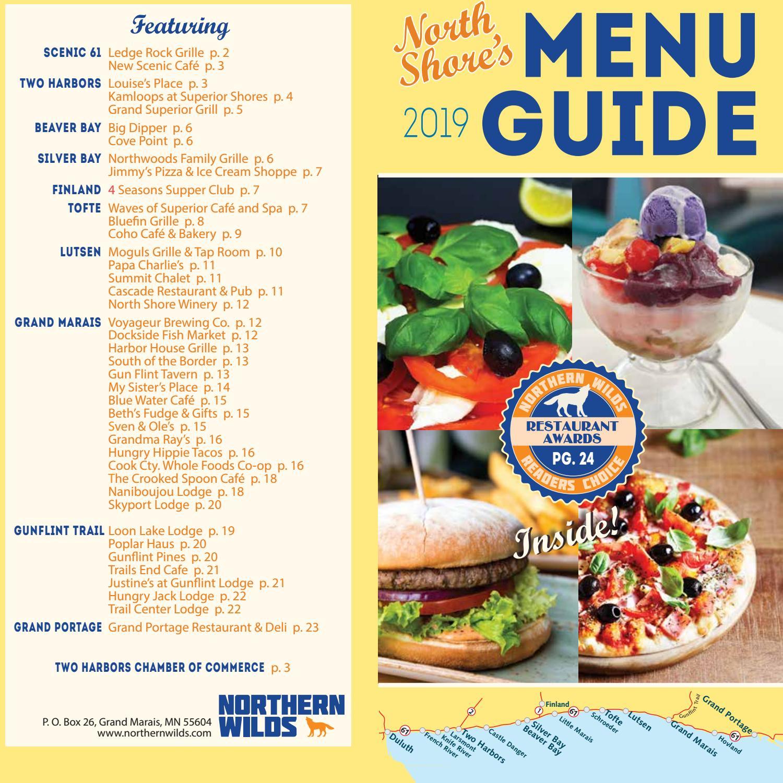 North Shore Menu Guide 2019 By Northern Wilds Magazine Issuu