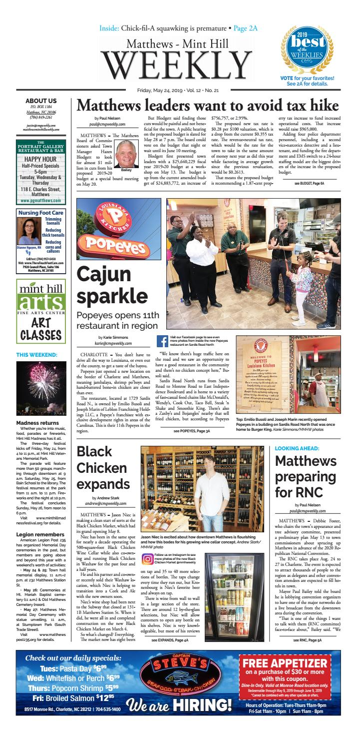Matthews-Mint Hill Weekly May 24, 2019 by Carolina Weekly