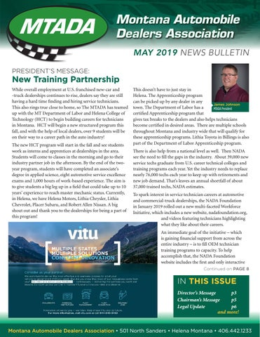 May 2019 Newsletter By Montana Auto Dealers Association Issuu