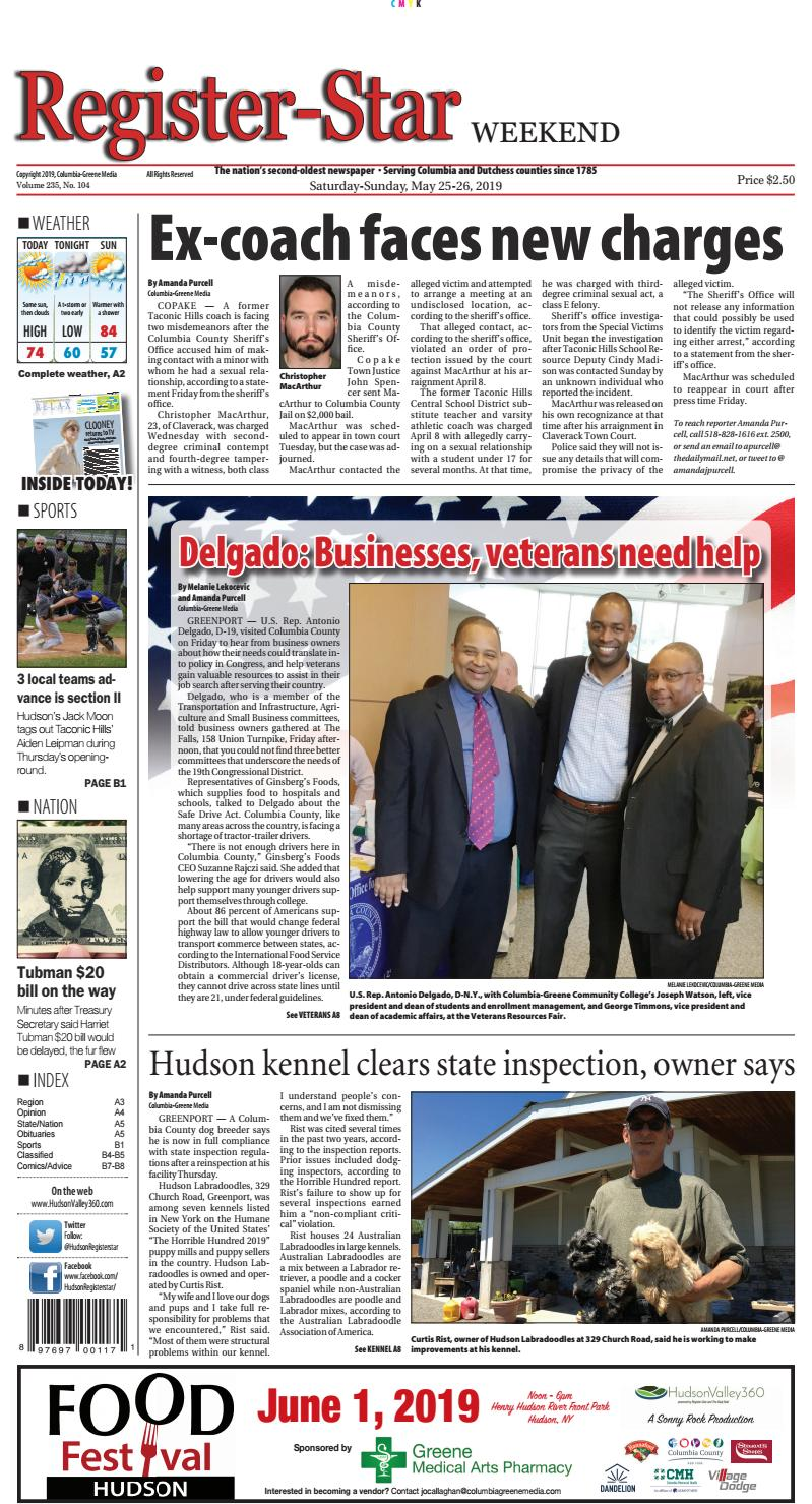 Eedition Register Star May 25 26 2019 By Columbia Greene