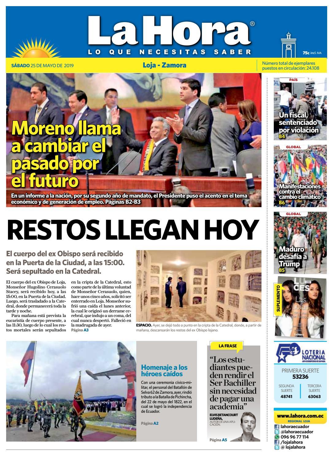 b9fdf31bd71a Diario La Hora Loja 25 de Mayo 2019 by Diario La Hora Ecuador - issuu