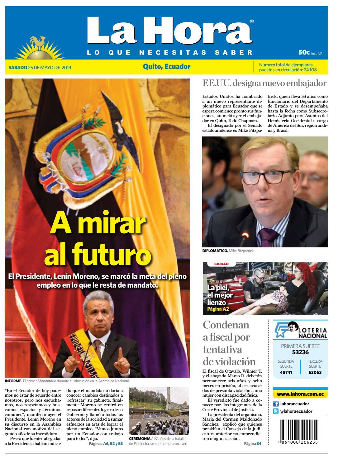 e2405b2927 Quito 25 de mayo del 2019 by Diario La Hora Ecuador - issuu