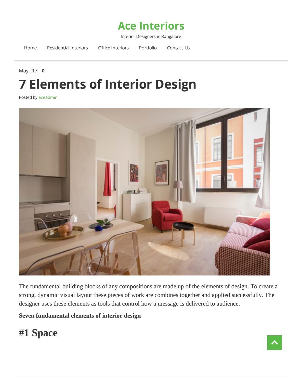7 Elements Of Interior Design By Arunakumarilk 11 Issuu