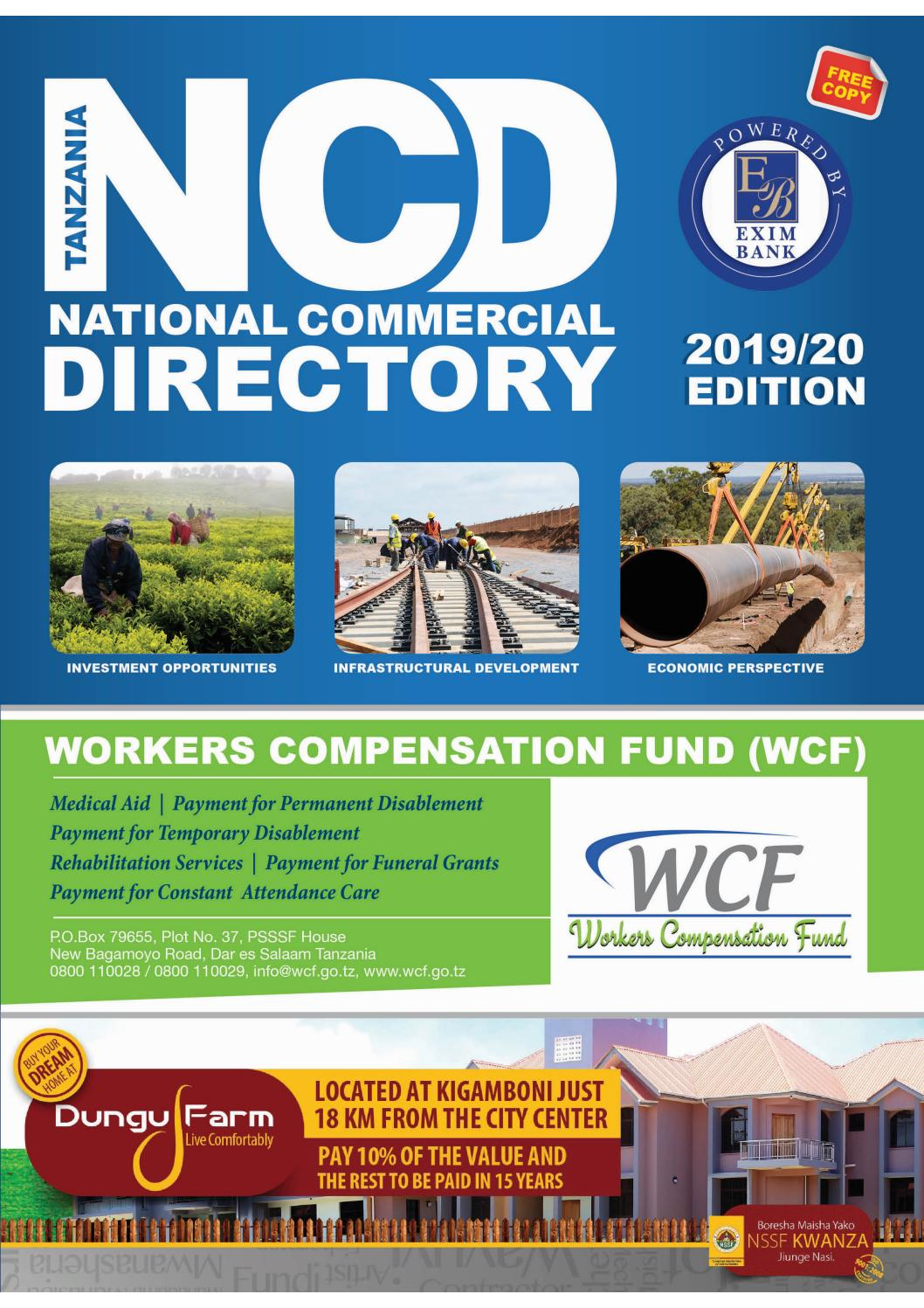Tanzania National Commercial Directory Issue 002 2019 2020 By Ncd Tanzania Directory Issuu