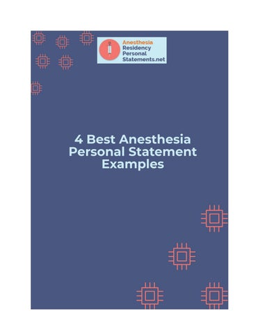 4 Best Anesthesia Personal Statement Examples by
