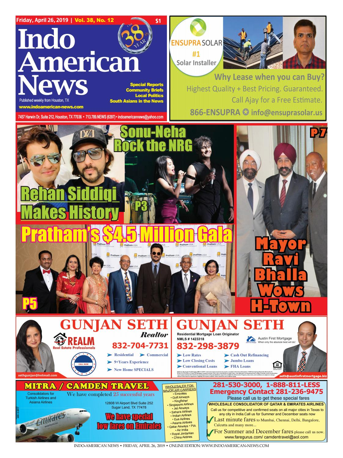 Indo-American News April 26, 2019 by Indo American News - issuu