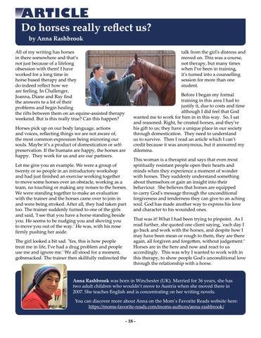 Page 18 of Do horses really reflect us? by Anna Rashbrook