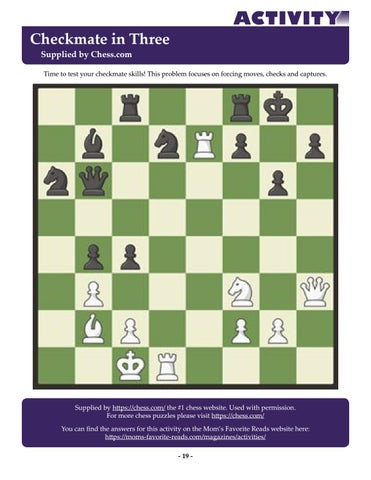 Page 19 of Checkmate in Three - Supplied by Chess.com