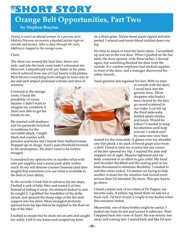 Page 20 of Orange Belt Opportunities, Part Two by Stephen Brayton