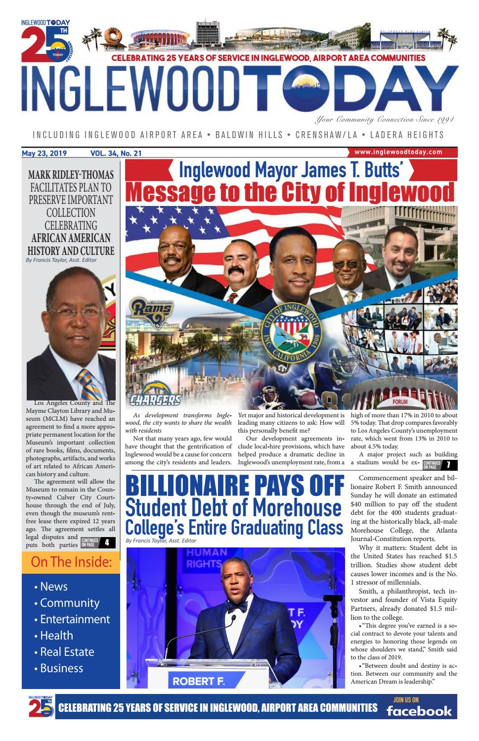 May 23, 2019 by Inglewood Today News - issuu