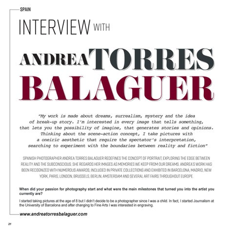 Page 22 of INTERVIEW | ANDREA TORRES BALAGUER
