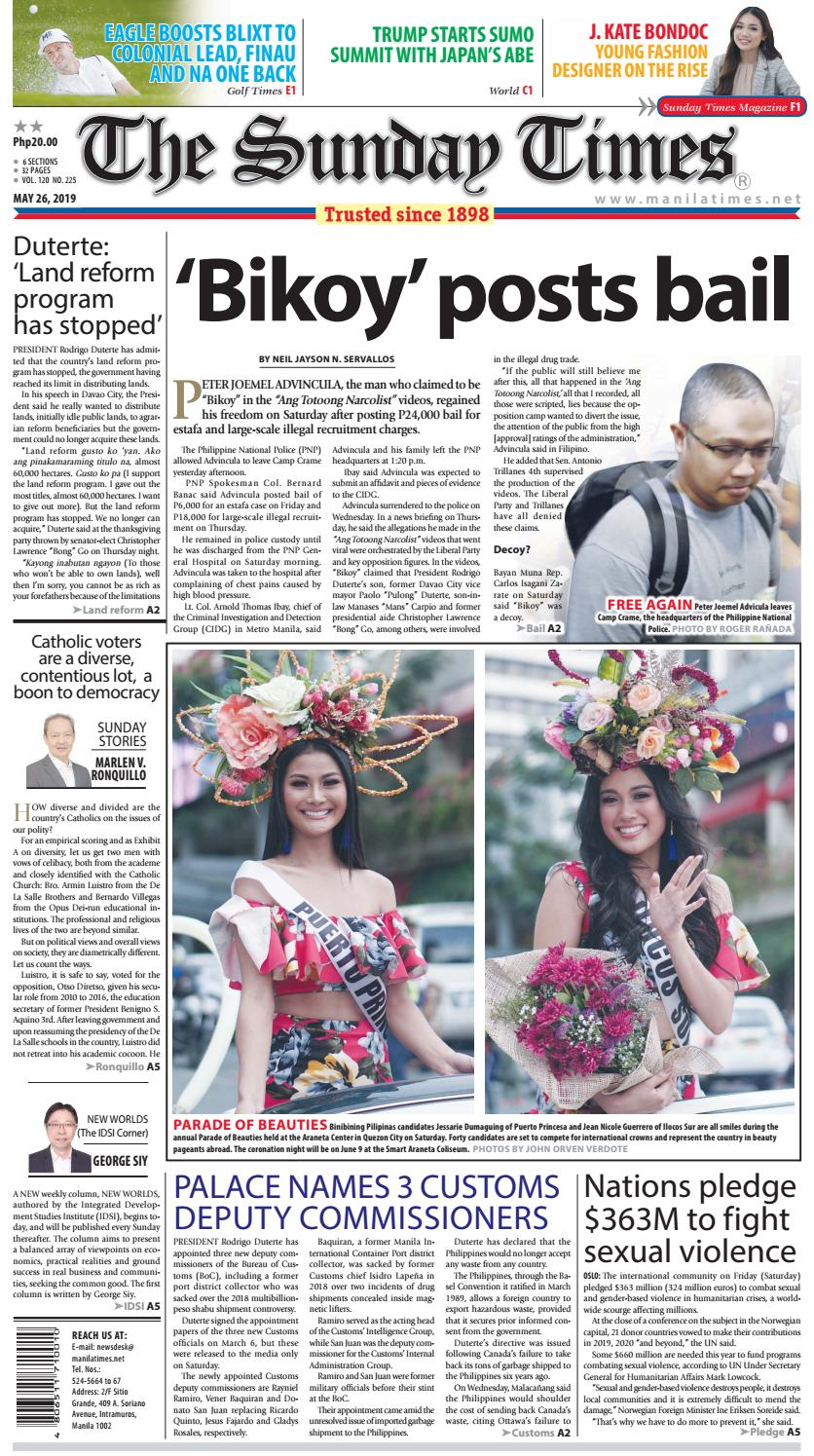 422af032 The Manila Times | May 26, 2019 by The Manila Times - issuu