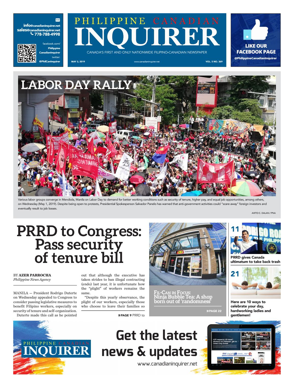 Philippine Canadian Inquirer #369 by Philippine Canadian Inquirer