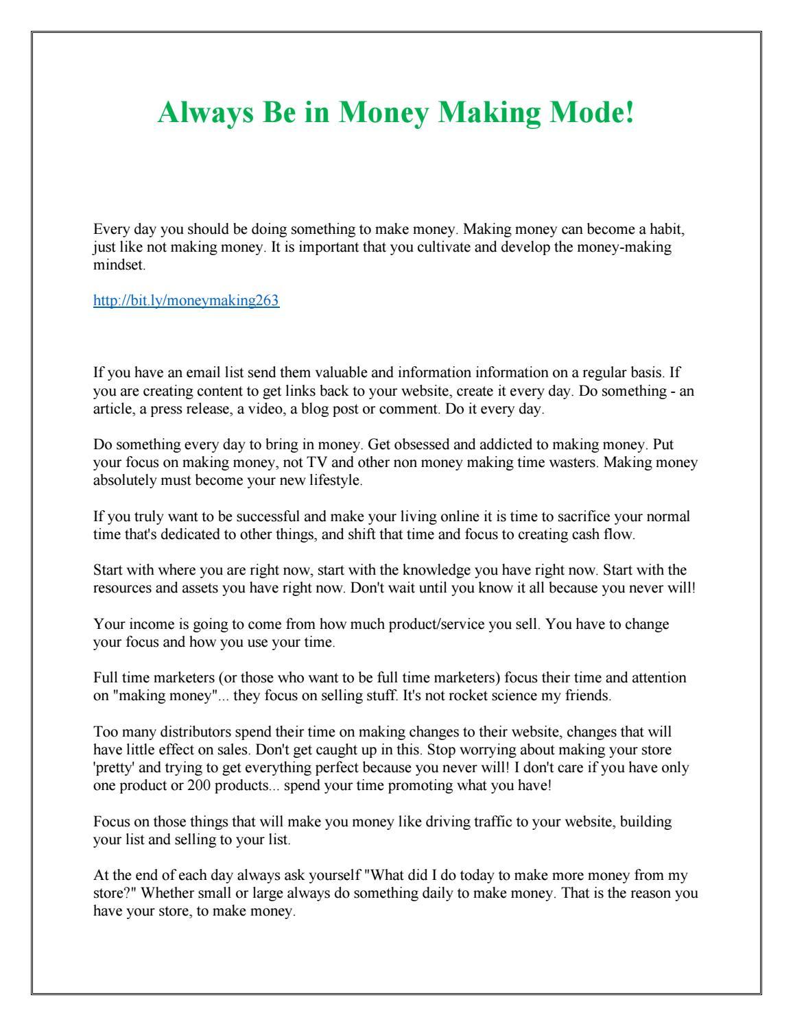 Always Be in Money Making Mode! by Kathy Lambert - issuu