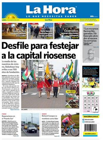 079605d6993f Los Ríos 27 de mayo del 2019 by Diario La Hora Ecuador - issuu